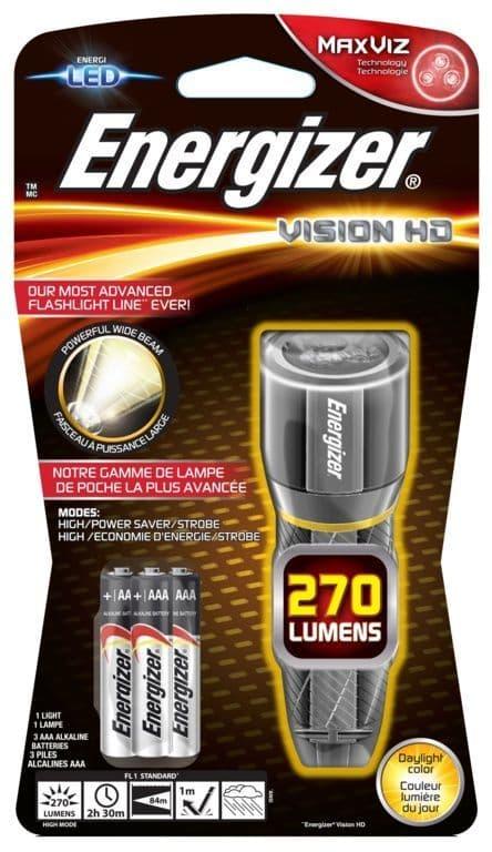Energizer LED Vision HD Torch - Metal